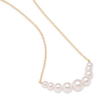 Mastoloni Graduated Pearl Chain Necklace