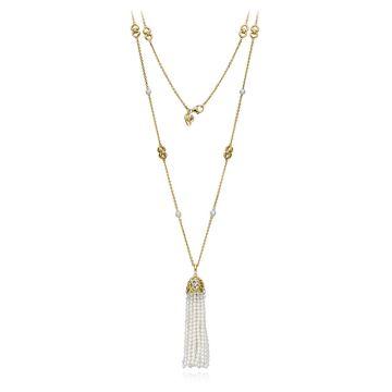 Gumuchian 18k Yellow Gold Tassel Pearl Pendant