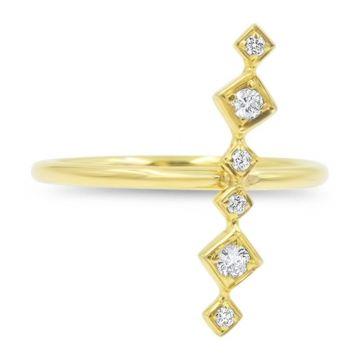 LexiMazz Designs 14k Gold Lex Linear Diamond Ring