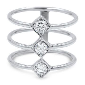 LexiMazz Designs 14k Gold Lex Triple Diamond Ring