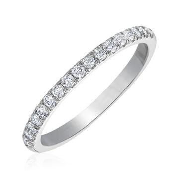 Gumuchian Bridal 18k White Gold Cinderella Diamond Anniversary Wedding Band