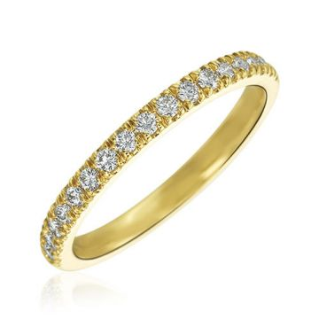 Gumuchian Bridal 18k Yellow Gold Cinderella Diamond Anniversary Wedding Band
