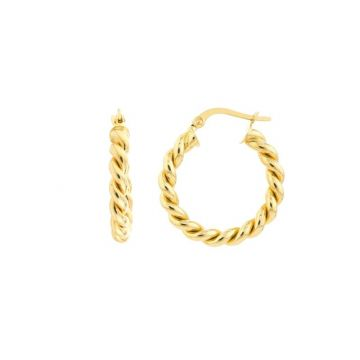 Midas 14k Yellow Gold Double Round Rope Twisted Hoop Earrings