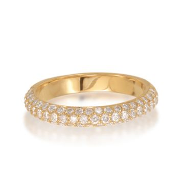 Epoque 14k Yellow Gold Diamond Pave Wedding Band