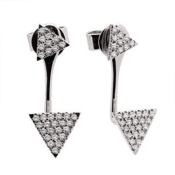 Meira T 14k White Gold Triangle Diamond Ear Jackets