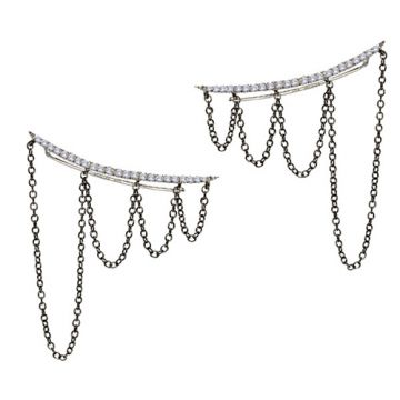 Meira T 14k White Gold and Diamond Ear-Cuff Collaboration with Excessories Expert