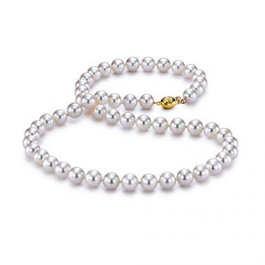 "Mastoloni 7mm 18"" Akoya Pearl Strand Necklace"