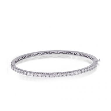 Epoque 14k White Gold Diamond Bangle