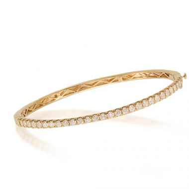 Epoque 14k Yellow Gold Diamond Bangle