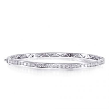 Epoque 14k White Gold 1.28ct Diamond Bangle