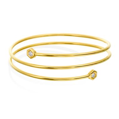 "Gumuchian Honeybee ""B"" 18k Gold Medium Tri-Flex Bracelet"