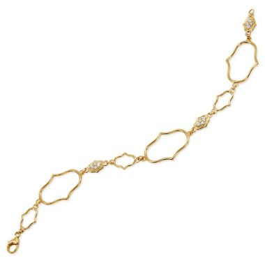 Gumuchian Secret Garden 18k Yellow Gold Delicate Motif Diamond Bracelet