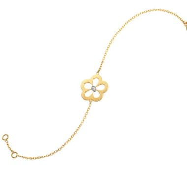 Gumuchian G. Boutique 18k Yellow Gold Diamond Daisy Bracelet