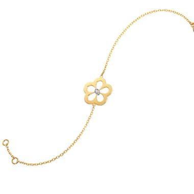 Gumuchian G. Boutique 18k Yellow Gold Diamond Daisy Bracelet