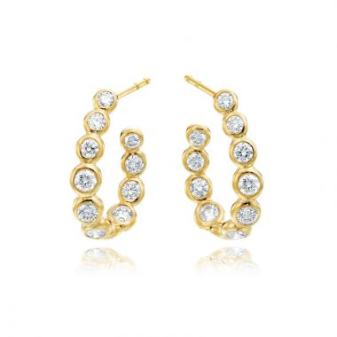 Gumuchian Moonlight 18k Gold C-Curved Hoop Earrings