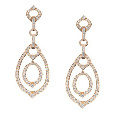 Gumuchian Gallop Equestrian 18k Rose Gold Chic Drop Earrings