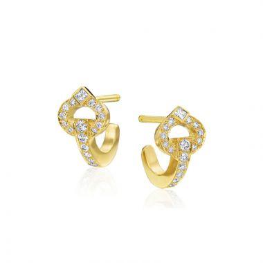 Gumuchian Gallop 18k Gold Diamond Earrings