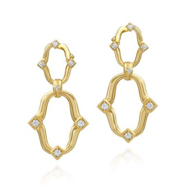 Gumuchian Secret Garden Linking Motif Drop Earrings
