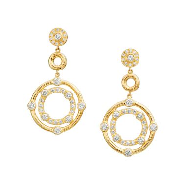 Gumuchian Carousel 18k Gold Drop Earrings