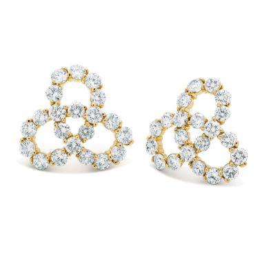 Gumuchian Twirl 18k Yellow Gold Diamond Earrings