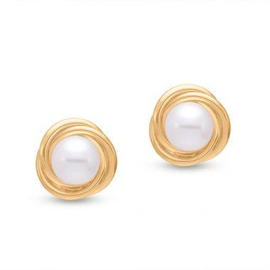 Mastoloni Love Knot Pearl Earrings