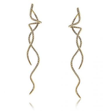 18K White Gold Spiral Earrings