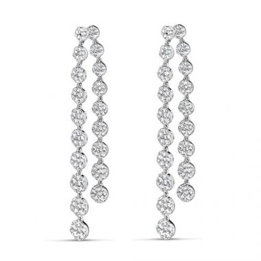 18K White Gold Diamond Fashion Earrings
