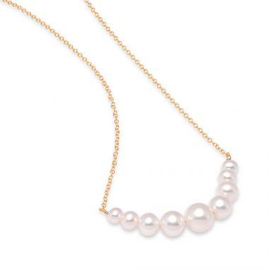 Mastoloni Graduated Pearl Chain Necklace