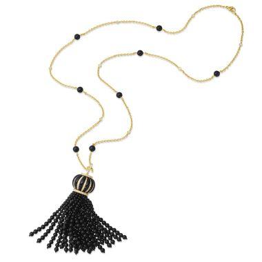 Gumuchian 18k Yellow Gold Tassel Gemstone Necklace