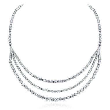 Gumuchian Cascade Riviera 18k White Gold Diamond Necklace