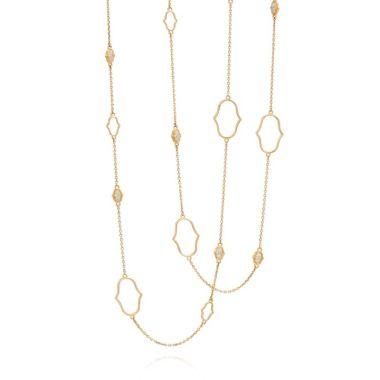 Gumuchian Secret Garden Delicate Motif 18k Yellow Gold Chain Necklace