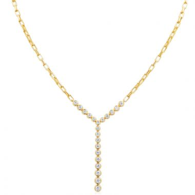Gumuchian Moonlight 18k Yellow Gold Diamond Stiletto Diamond Necklace