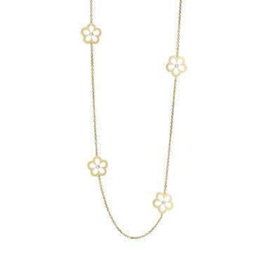 Gumuchian G. Boutique 18k Yellow Gold Diamond Daisy Necklace
