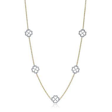 Gumuchian G. Boutique 18k Two Tone Gold Diamond Kelly Necklace
