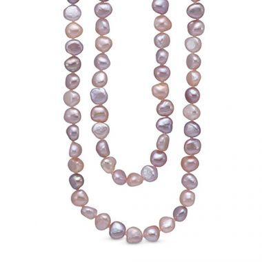 Mastoloni Endless Style Multicolor Baroque Freshwater Pearl Strand Necklace