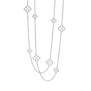 Gumuchian G. Boutique 18k White Gold Diamond Lotus Necklace