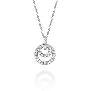 Gumuchian Moon Phase 18k White Gold Diamond Necklace