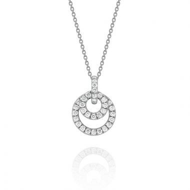 Gumuchian Moon Phase 18k White Gold Diamond Necklace