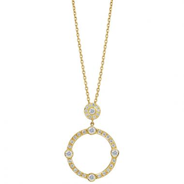 Gumuchian Carousel Motif 18k Yellow Gold Diamond Sliding Pendant