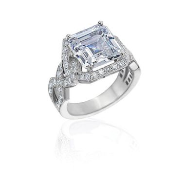 Gumuchian Bridal Platinum Diamond Twisted Semi-Mount Engagement Ring