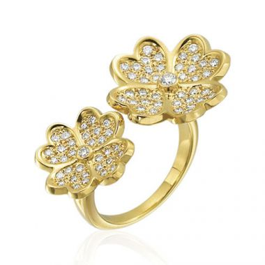 Gumuchian G. Boutique 18k Yellow Gold Diamond Kelly Ring