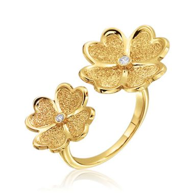 Gumuchian G. Boutique 18k Yellow Gold Diamond Kelly Ring