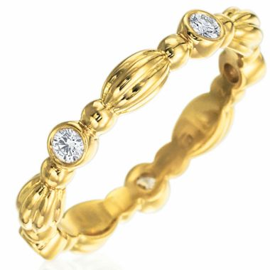 Gumuchian Nutmeg 18k Gold Five Diamond Stackable Band
