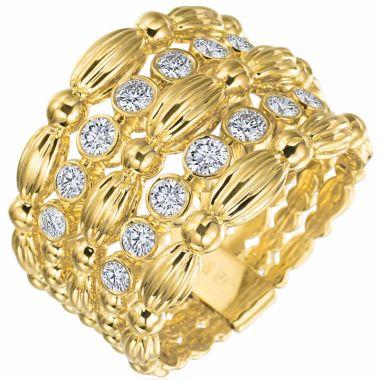 Gumuchian Nutmeg 18k Gold Small Five Row Ring