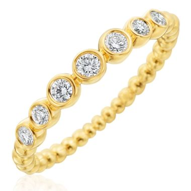 Gumuchian Nutmeg 18k Gold Small Diamond Stackable Band