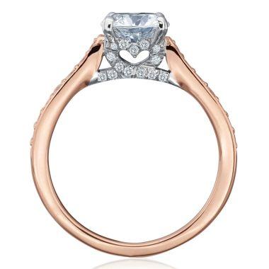 Gumuchian 18k Gold Diamond Tiny Hearts Motif Diamond Semi-Mount