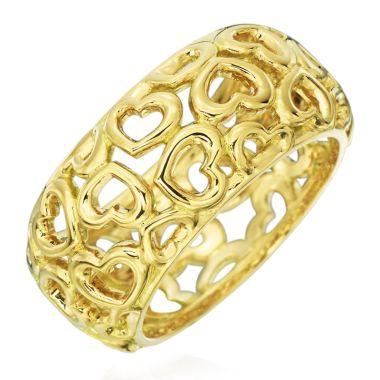 Gumuchian 18k Gold Hearts Motif Statement Ring