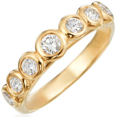 Gumuchian Moonlight 18k Gold Seven Stone Ring