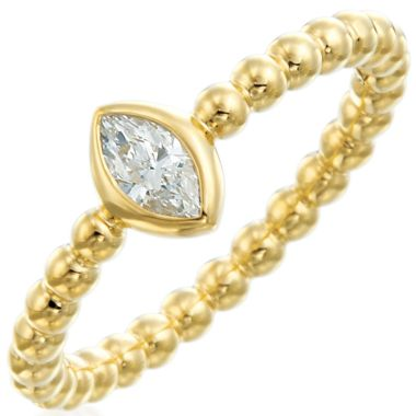 Gumuchian Nutmeg 18k Gold Beaded Diamond Ring