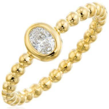 Gumuchian Nutmeg 18k Gold Beaded Diamond Ring